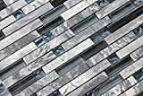 Soapstone Blues (GD09) Gray Marble Stone Blue Black Glass Blend Backsplash Tiles for Kitchen Bathroom Mosaic Wall (1 Box / 11 Sheets)