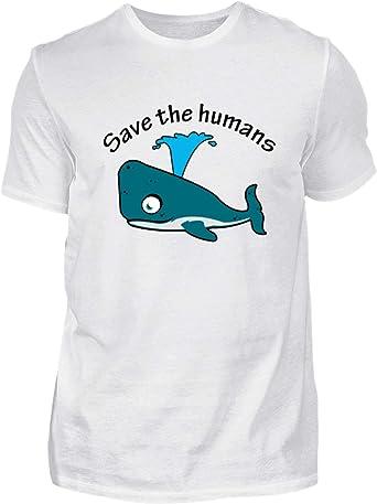 Desconocido Salven a los Humanos - Ballena - Camisa de Hombre: Amazon.es: Ropa y accesorios