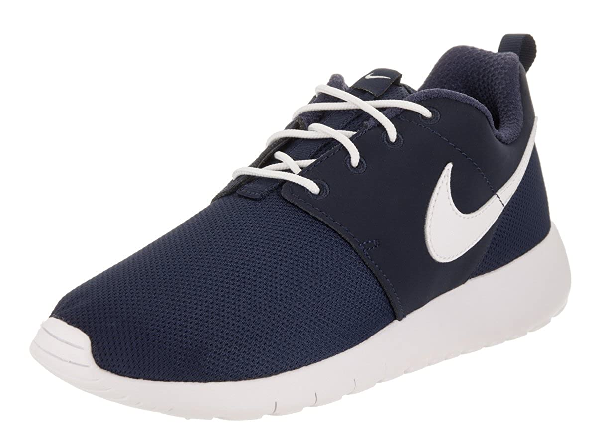 best service d252f 9115a Amazon.com   Nike Roshe One GS - 599728416 - Color White-Navy Blue - Size   3.5   Running