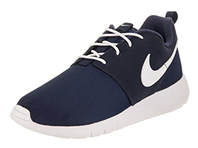 45eb3b998919 Image Unavailable. Image not available for. Color  Nike Roshe One GS -  599728416 - Color White-Navy ...