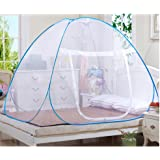 Mosquito Nets, Outdoor Mongolian Yurt Dome Net Free Installation and Folding Nets, Prevent Insect Pop Up Tent Curtains for Beds Bedroom (150*200*150cm, White)