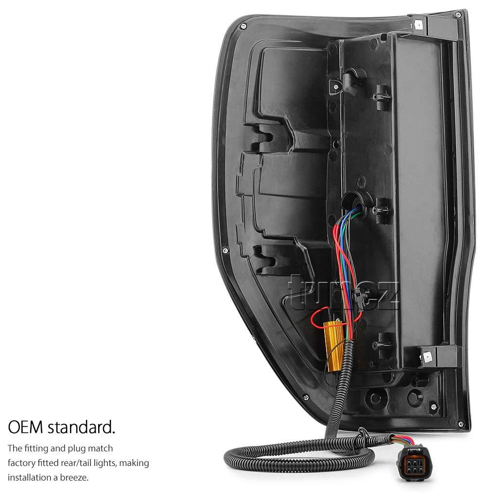 TUNEZ Smoke LED R/ücklicht f/ür Ranger Wildtrak XL XLT XLS Limited 2 FX4 Smoked F-150 F150 Design Style T6 PX ab Baujahr 2011-2019