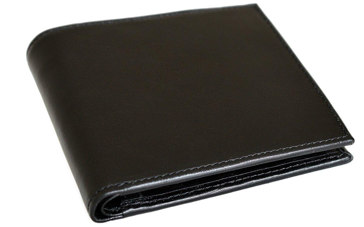 (タバラット フラット) TAVARAT FLAT 二つ折り財布 【左利き用 本革 BOX型小銭入れ 全5色 】 TAV-025L B016JI6CJE ブラック ブラック