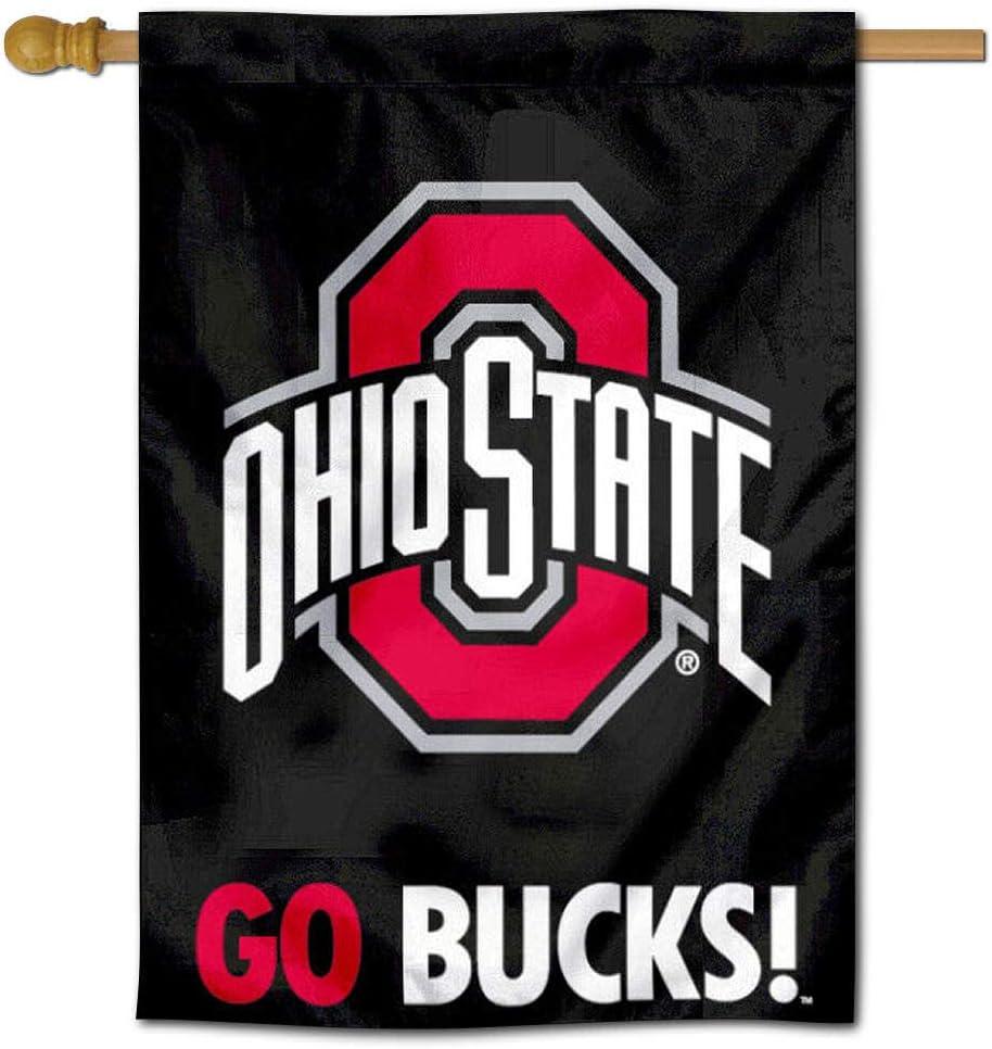 Ohio State Buckeyes Black House Flag Banner