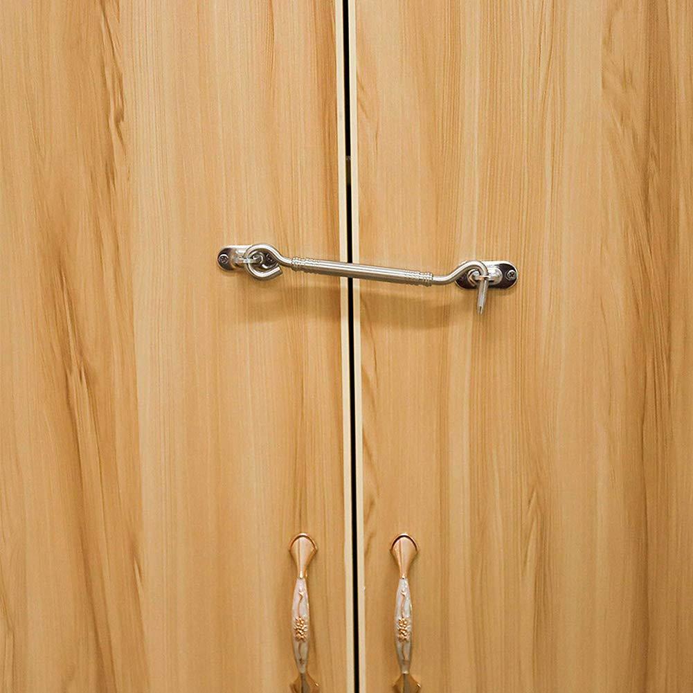 4, 110mm Gancho de ventana,BEOTY 4PCS Gancho de Cabina de sujetadores de gancho de captura de cabina del ojo de ventana de puerta de