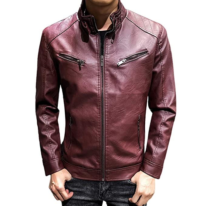 Amazon.com: GoodLock Clearance!! Mens Fashion Leather ...