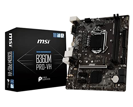 MSI B360M Pro-VH with Intel B360 Chipset Motherboards at amazon