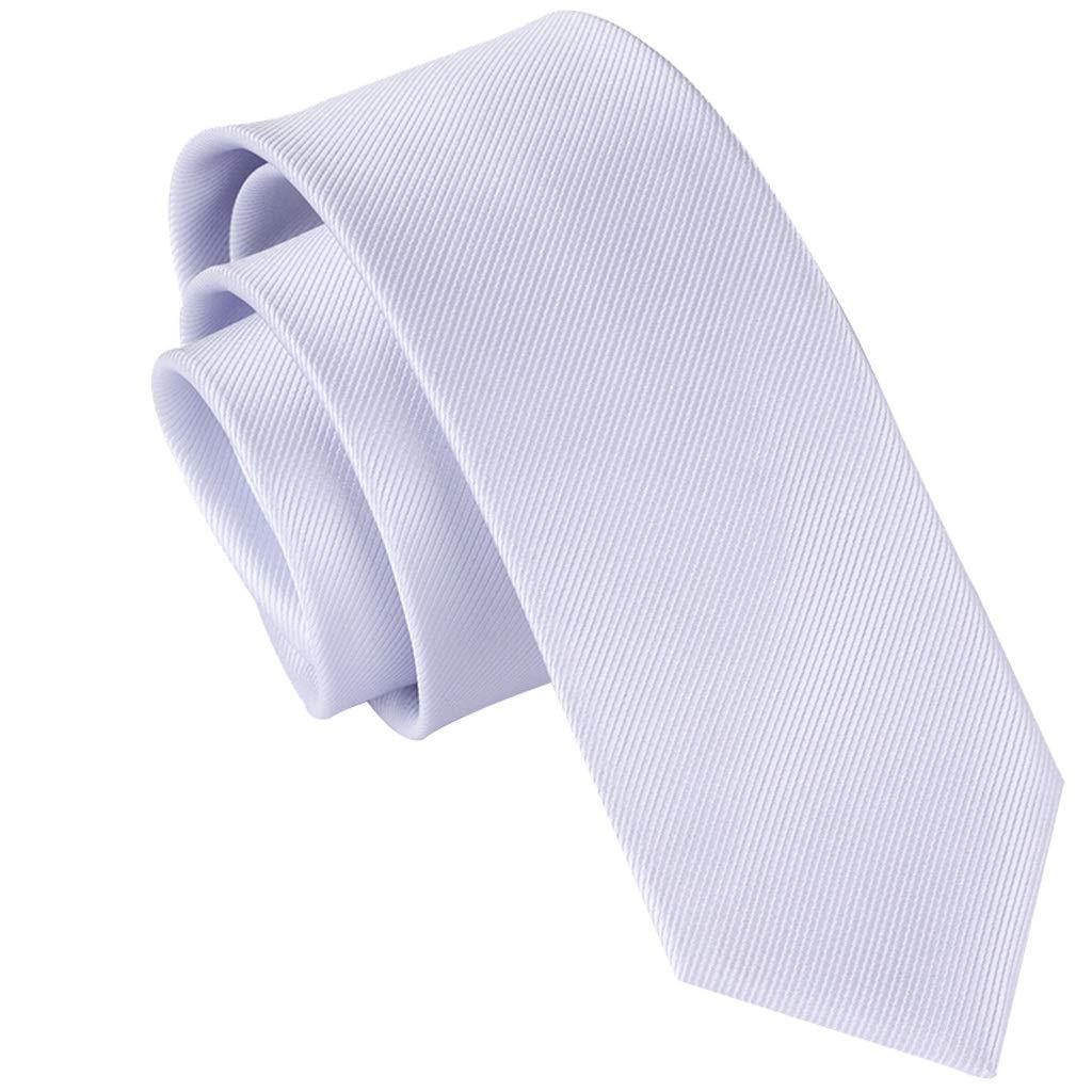 OYWNF Corbata de Moda for Hombre Color sólido Rayas diagonales ...