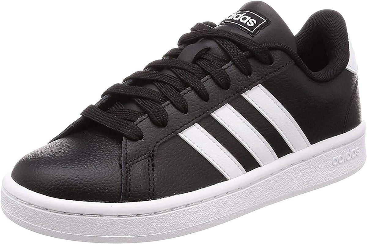 adidas Grand Court Sneakers Herren Schwarz m weißen Streifen