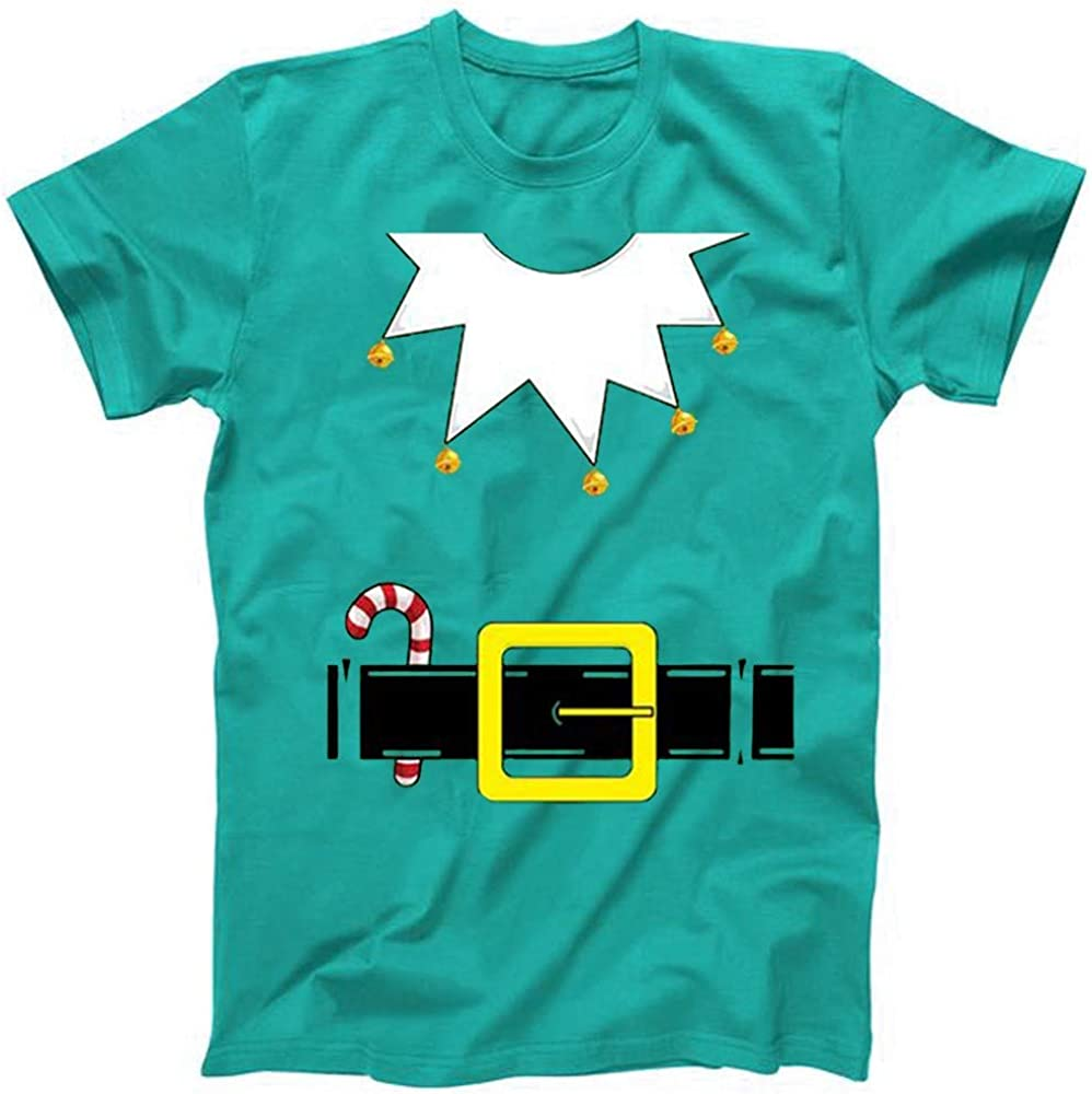 F/_Gotal Mens Christmas T Shirts Ugly Christmas Funny T-Shirt Print Xmas Shirt Ugly Christmas Crew Neck Party Santa Tops