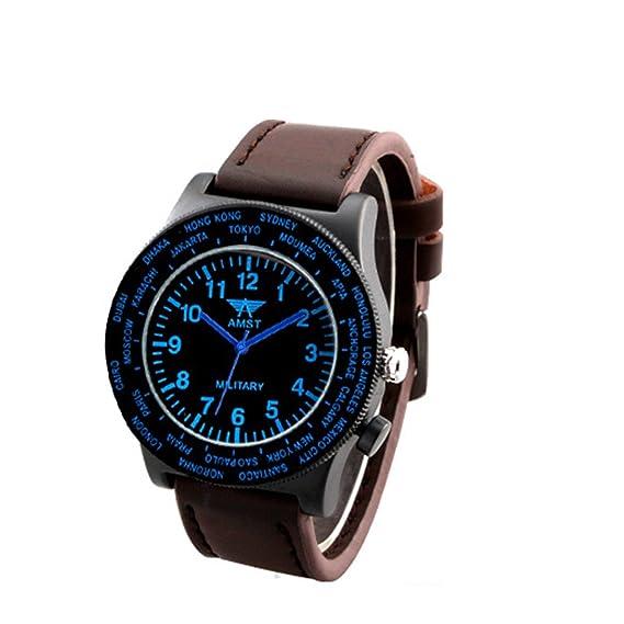 Digital Militar reloj Fashion relojes hombres escalada al aire libre impermeable relojes normal azul