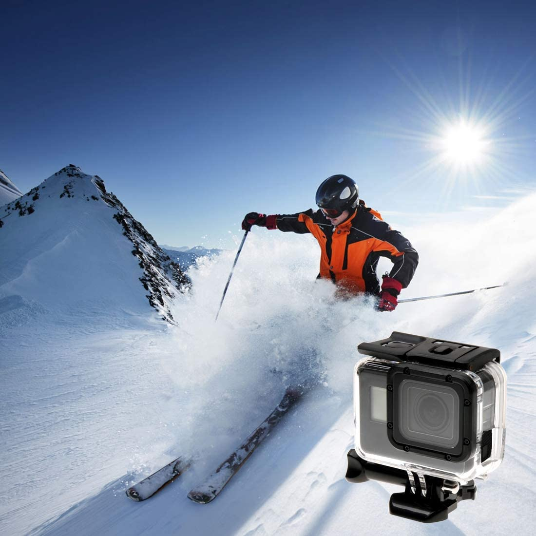 No Need to Disassemble Lens CHENYANTUB Camera Accessories for GoPro New Hero //HERO6 //5 Skeleton Housing Protective Case Hollow Back Cover with Buckle Basic Mount /& Screw