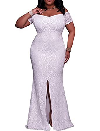 Formaldresses White Lace Plus Size Prom Dress Evening Gown Off ...