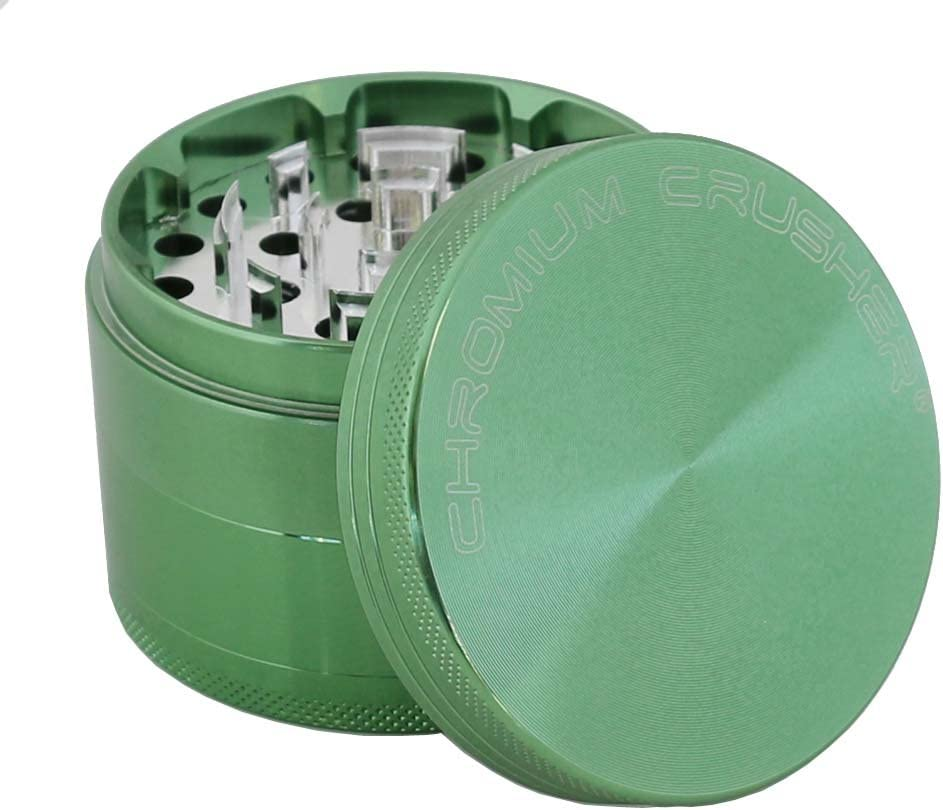 Black Aluminum Chromium Crusher 2.5 4 piece Coffee Spice Tobacco Herb Grinder with Lifetime Warranty Pick Your Grinder