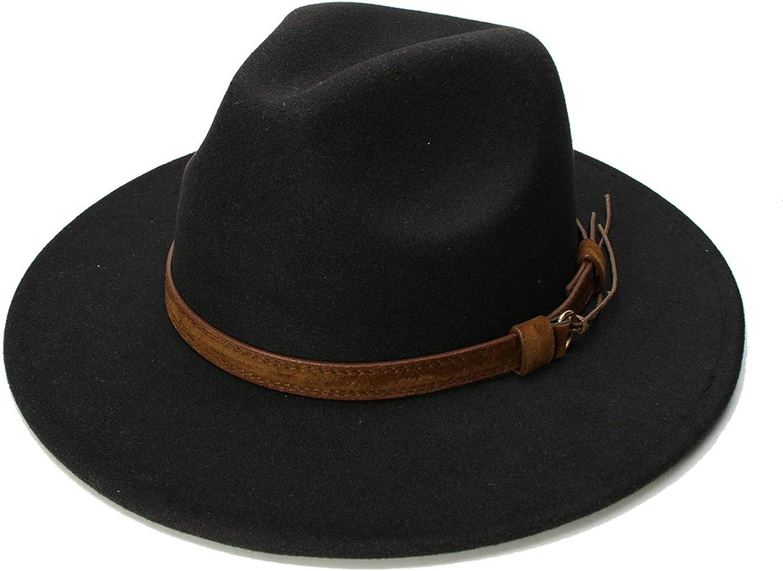Pure Wool Vintage Fedora Floppy Jazz Sun Panama Bucket Hat Wide Brim Cap