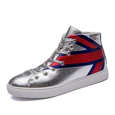 Chaussure Basket Cuir Lacets Paillette Bottes Cheville à Homme 7HSxnqF5