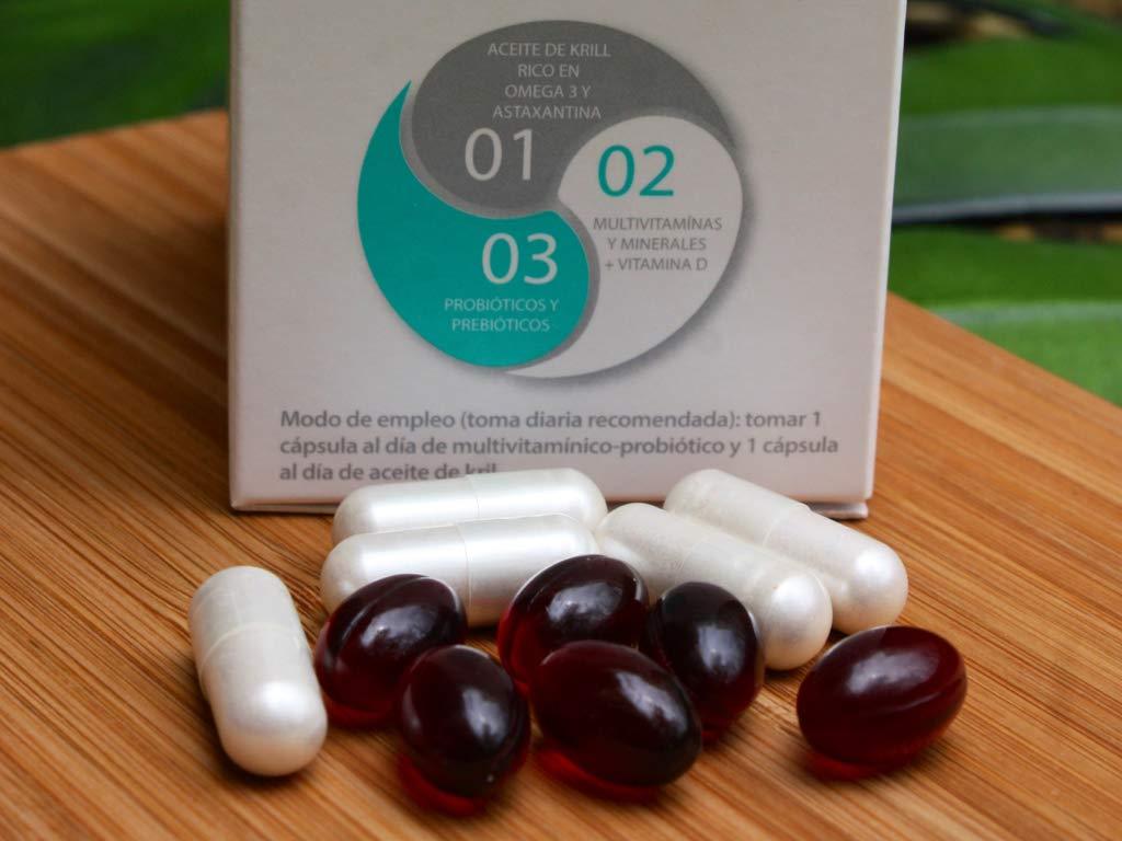 BESTME PANGEA : FORMULA AVANZADA 4 en 1 : Aceite de krill (rico en omega 3, astaxantina EPA DHA) Probióticos (Lactobacillus, bifidus 12 billones de CFU + ...