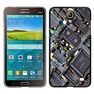 FU-Orionis Colorful Printed Hard Protective Back Case Cover Shell Skin for Samsung Galaxy Mega 2 - PCB Chipset Transistors