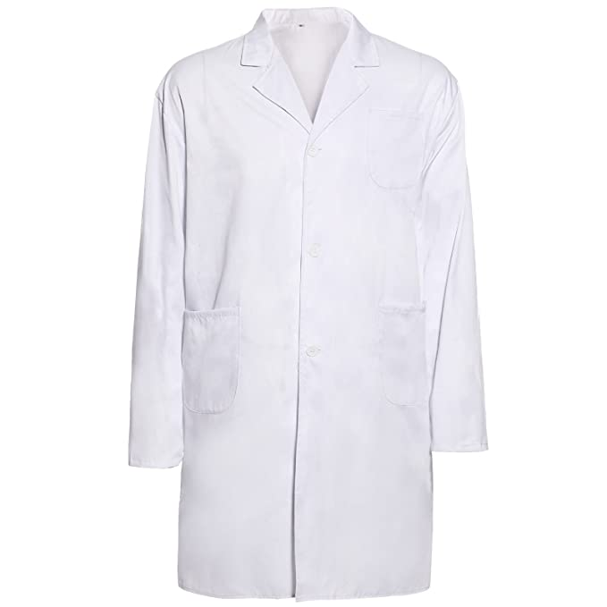 Surepromise Labormantel Laborkittel Damen Herren Kittel Medizin Weiss
