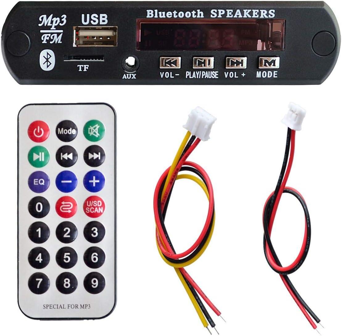 1 Unidades Bluetooth inalámbrico estándar 12V 12V WMA Decodificador Módulo de audio TF USB Radio para coche