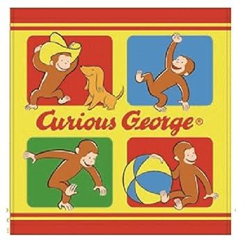 おさるのジョージ ウォッシュタオル ブロック キュリアスジョージ タオル たおる ひとまねこざる グッズ キャラ 絵本