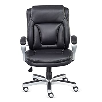 Amazoncom Petite Low Height Computer Chair in Black Faux