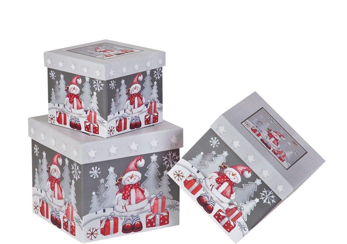 Amazon.com: Christmas Nested Gift Boxes, Tartan Santa\'s Belt (Set of ...