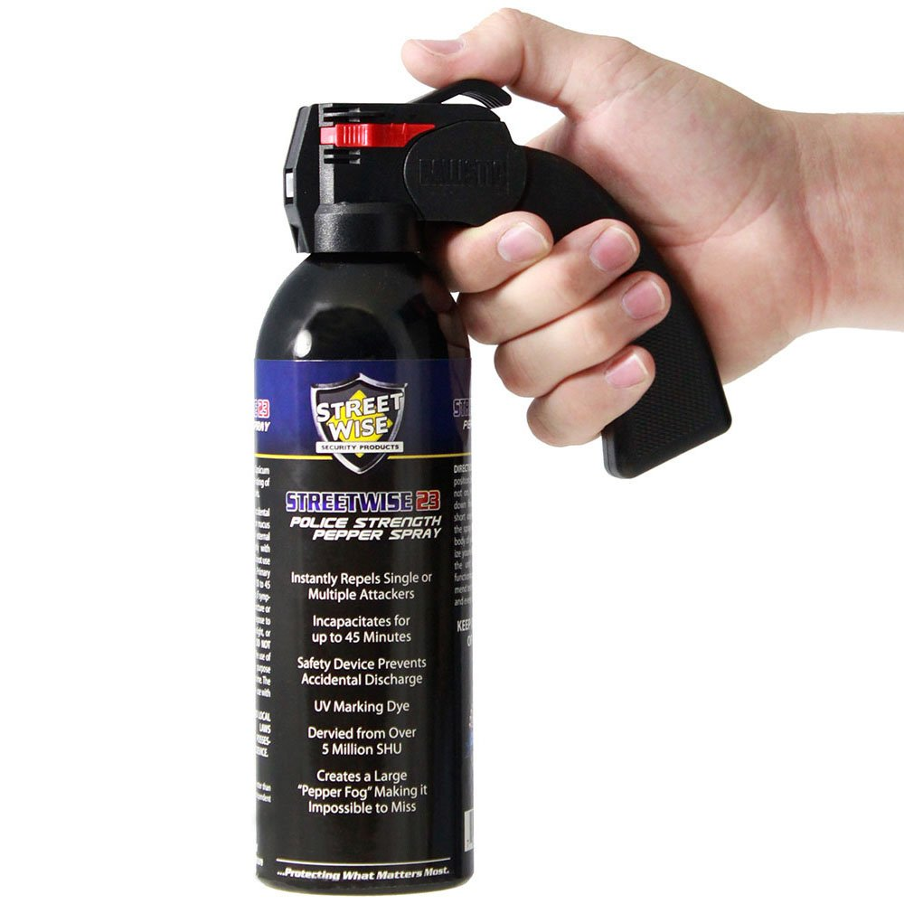 Streetwise 23 Fire Master UV Dye 5 Million SHU 1 lb Pistol Grip Pepper Spray Fog