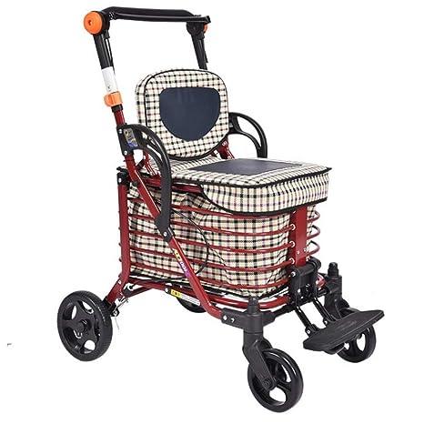 Olydmsky Rollator,Carrito de Compras para Ancianos, Carrito, Auxiliar para Caminar, Carrito