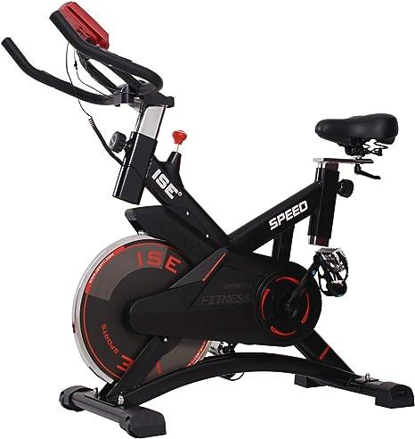 ISE - Bicicleta ergómetro para apartamentos. Soporte para brazos, cardiofrecuencia, silencioso, 120 kg máximo. SY-7005-1: Amazon.es: Deportes y aire libre