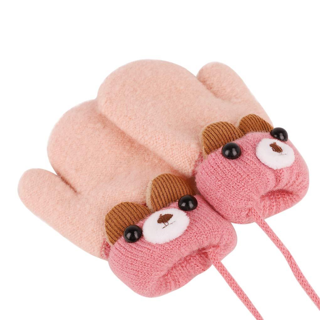 IPENNY Guanti invernali in pile spesso foderati in pile con dita caldi e dita intere caldi e scaldamani per bambini da sport allaperto Bambini invernali caldi 0 a 3 anni