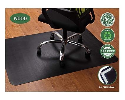 Sedia da ufficio per pavimenti in legno e piastrelle nero