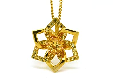 dd86562cc Clogau Welsh 9ct Yellow Gold Eternal Daffodil Citrine and Sapphire Pendant:  Amazon.co.uk: Jewellery