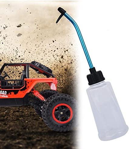Nitro Fuel Filler Model Car Fuel Bottle Alloy Bottle Straw for All RC Model Car
