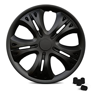 Universal Tapacubos Lion (Negro) apto para casi todos los vehículos con 4 tapones de válvula en negro.: Amazon.es: Coche y moto