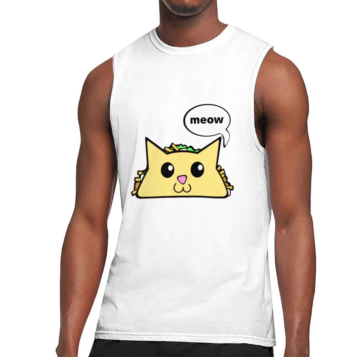 Seuriamin Taco Cat S Basic Outdoor Sleeveless Muscle Short Sleeve T Shirts