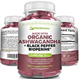 Organic Ashwagandha Capsules 1500 MG with Black pepper(Bioperine)- EXTRA STRENGTH Vegetarian Capsules 120 Capsules- Natural & Healthy Stress Support & Mood Enhancer Support