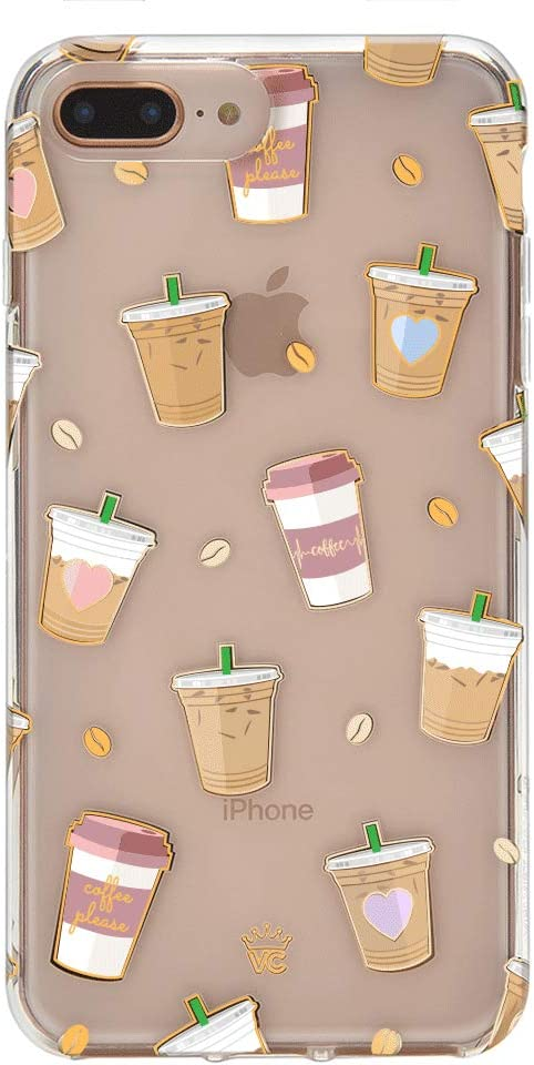 Velvet Caviar Compatible with iPhone 7 Plus Case & iPhone 8 Plus Case Coffee for Women & Girls - Cute Clear Protective Phone Cases