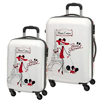 Disney Set de Maletas, Diseño Minnie Paris, 64 litros: Amazon.es: Equipaje