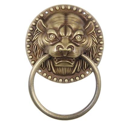 antique door pull-ring/vintage copper ring/animal head copper copper handle/ - Antique Door Pull-ring/vintage Copper Ring/animal Head Copper Copper