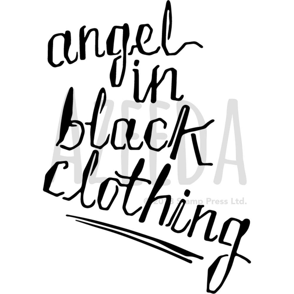 A4 'Angel in Black' Wall Stencil / Template (WS00027411)