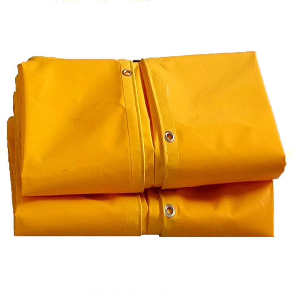 CHAOXIANG ターポリン 屋外 厚い 雨の保護 防塵の 防風 リノリウム ナイフスクレーパー PVC、 620G/㎡、 6サイズ (色 : イエロー いえろ゜, サイズ さいず : 2X2m) B07FXRCG6D 2X2m|イエロー いえろ゜ イエロー いえろ゜ 2X2m