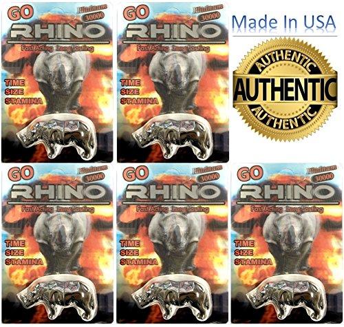 Go Rhino 30000 Male Enhancement 6 Pills (Silver 5) (Rhino Silver)