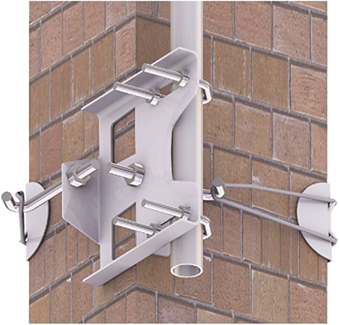 Antena único 6 Soporte de Chimenea para Amarre Kit