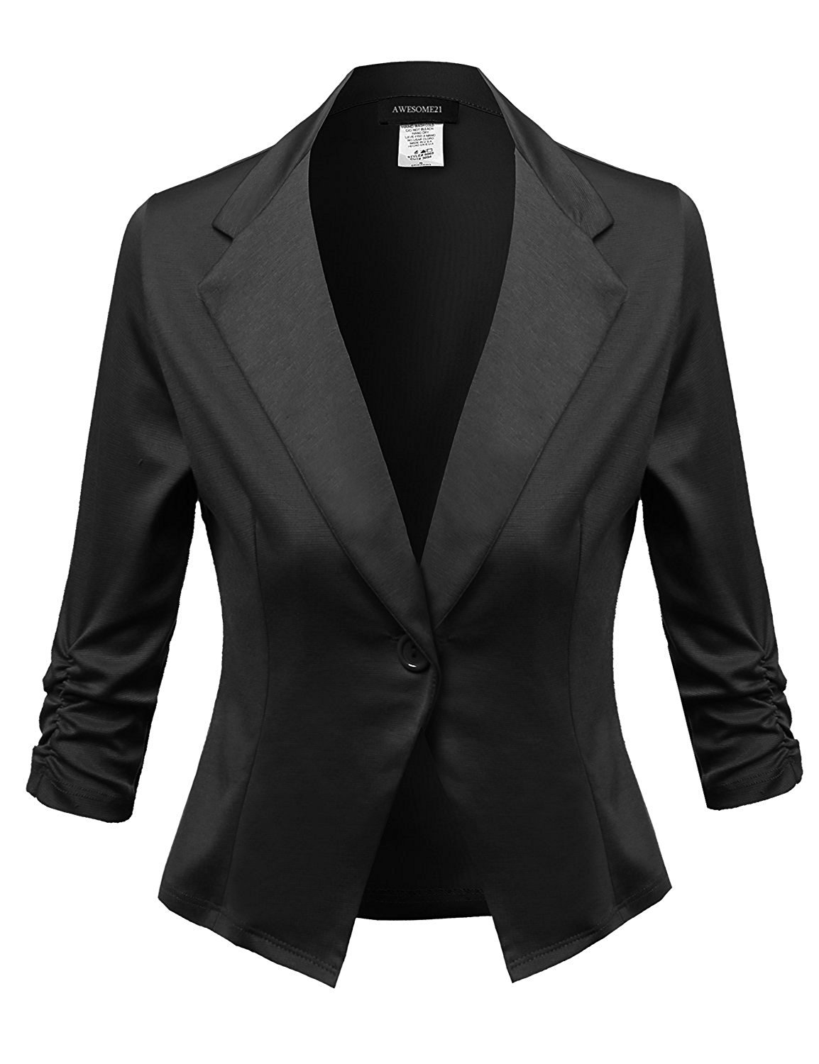 Awesome21 Women's Solid Stretchable Comfortable Blazer Jacket GogoUS