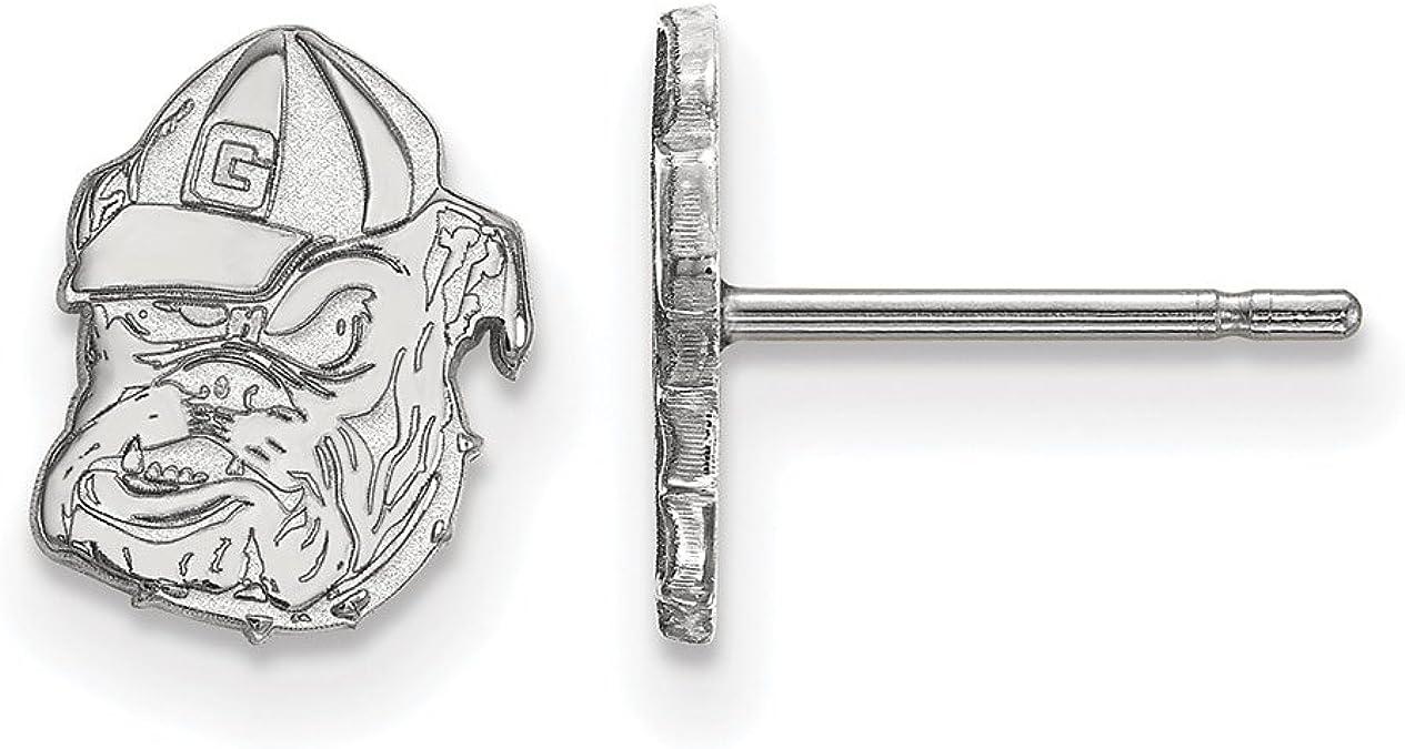 925 Sterling Silver LogoArt University of Georgia Small Post Earrings