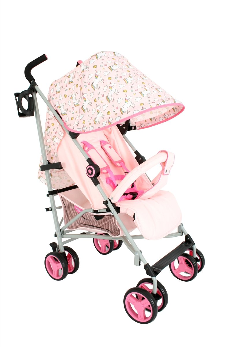 My Babiie MB02 Pink Unicorn Stroller - Includes Raincover MB02UN