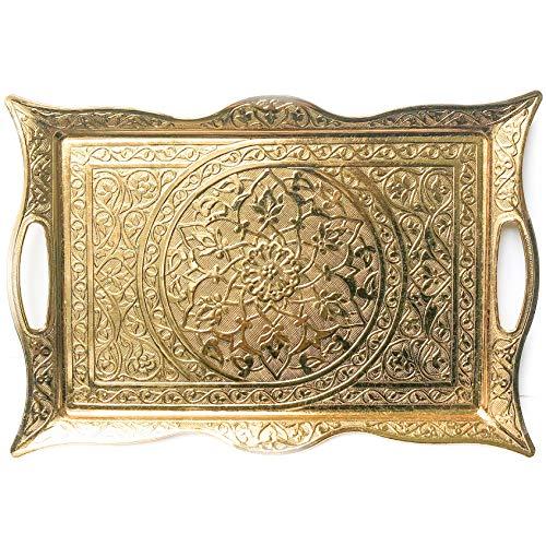(Turkish Ottoman Coffee Tea Beverage Serving Square Tray)