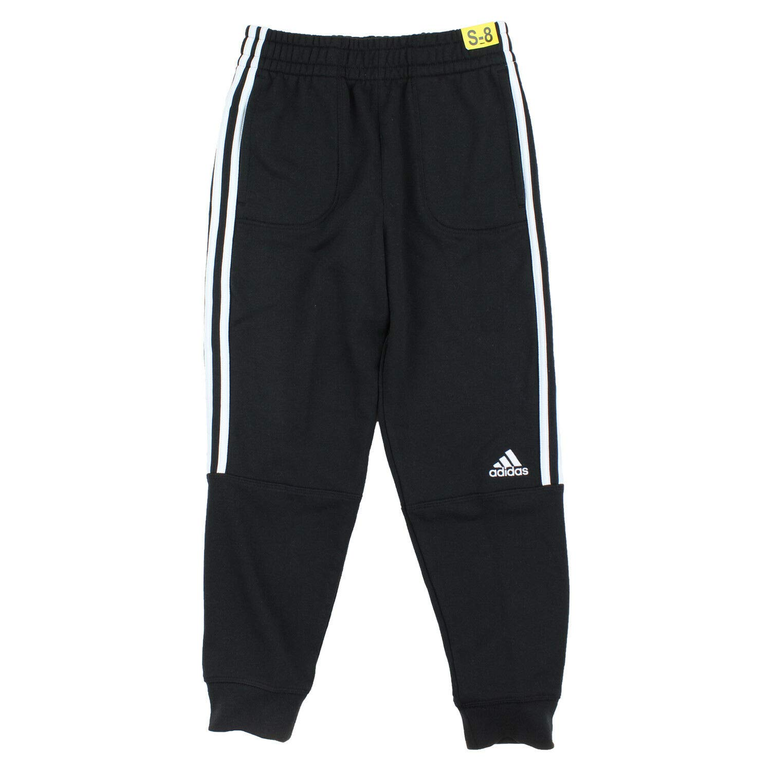adidas Boys' Jogger Pant (XL(18/20), JC Black-White) by adidas