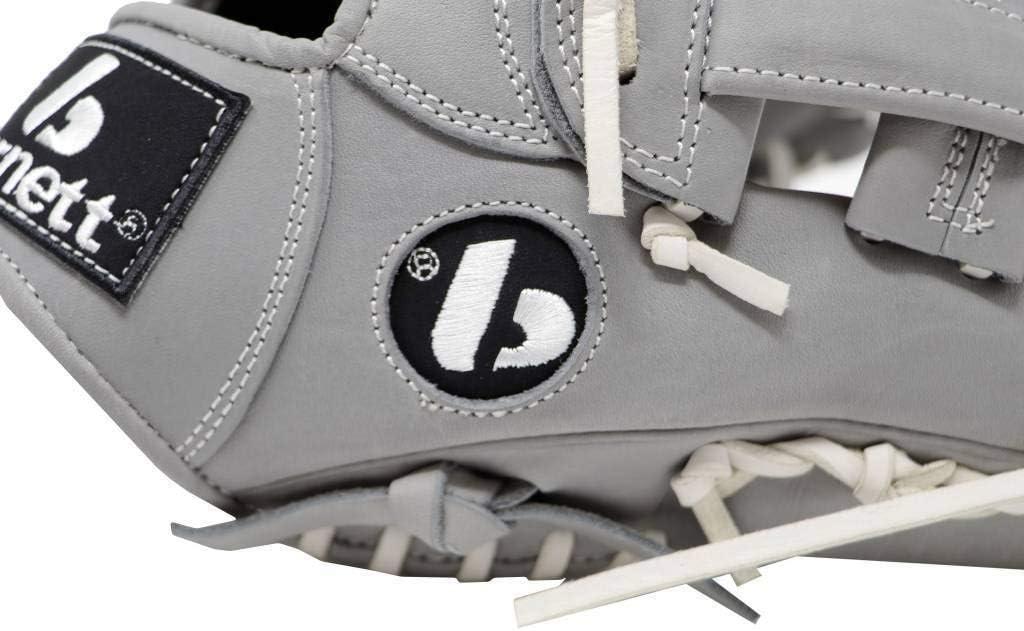 BARNETT FL-117 Baseball and Softball Glove Infield//Fastpitch 11.7 Leather Light Grey